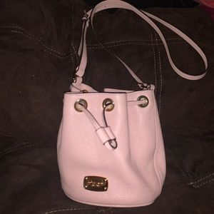 Pink bucket Crossbody made by Michael Kors
